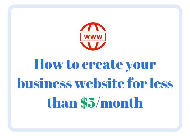 How to create a website for less than $5/month